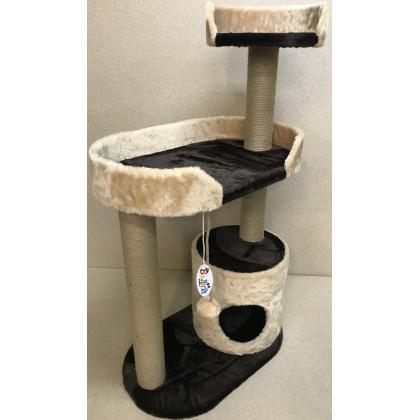 Игровой комплекс домик для кошек Балуй-13 джут