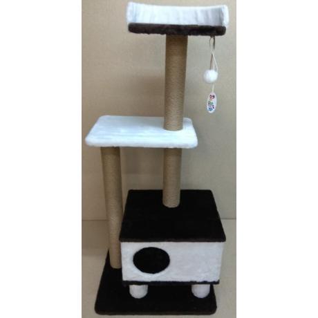 Игровой комплекс когтеточка для кошек Балуй-20 джут