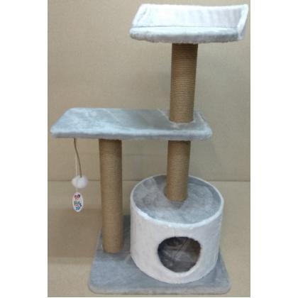 Игровой комплекс когтеточка для кошек Балуй-23 джут