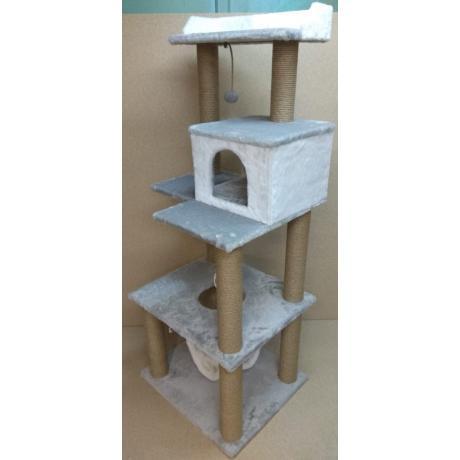Игровой комплекс с гамаком для кошек Балуй-29 джут