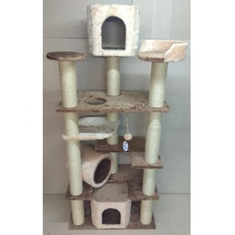 Игровой комплекс когтеточка для кошек Балуй-36 джут