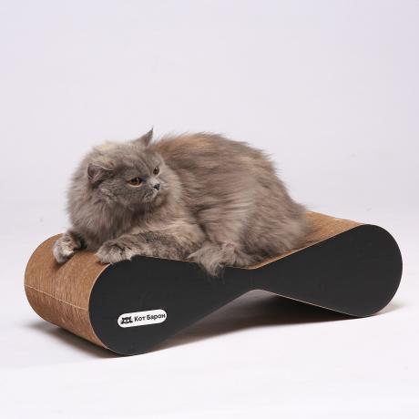 Когтеточка-лежанка для кошек Басик черная