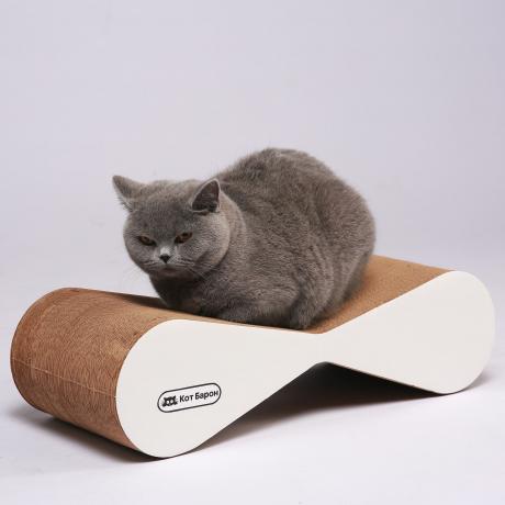 Когтеточка-лежанка для кошек Басик белая