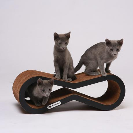 Когтеточка-лежанка для кошек Инфинити черная