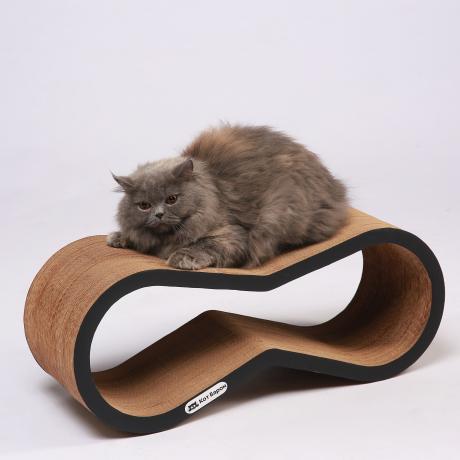 Когтеточка-лежанка для кошек Липс черная