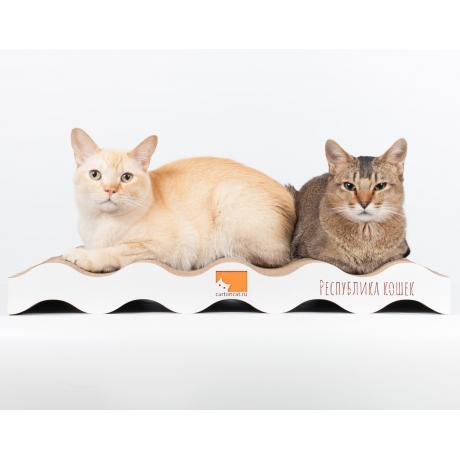Когтеточка для кошек WAVES TWIN картонная