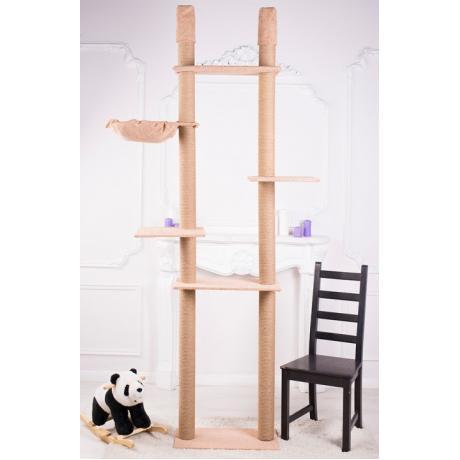 Высокий игровой комплекс для кошек на двух столбах арт.21