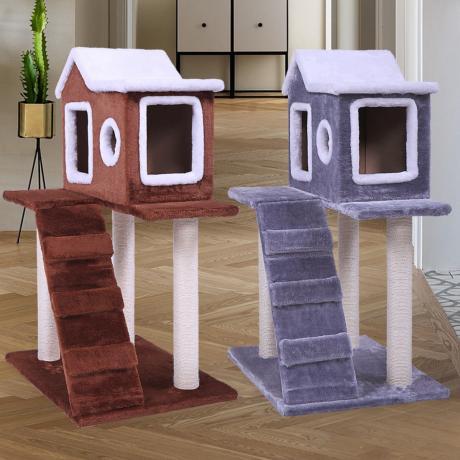 Комплекс с домиком для кошек «Избушка»