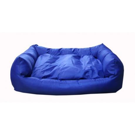 """Лежак прямоугольный """"Оксфорд"""" с подушкой (Голубой)"""