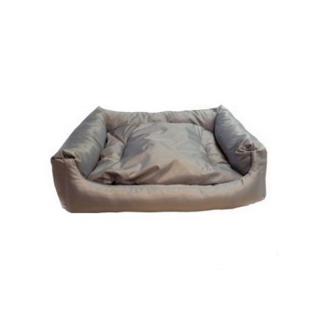 """Лежак прямоугольный """"Оксфорд"""" с подушкой (Светло-серый)"""