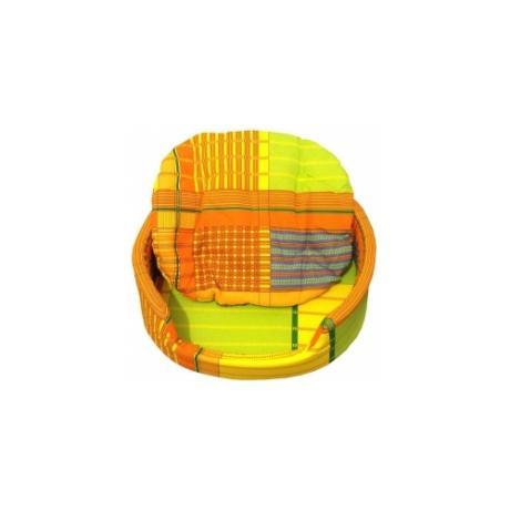 """Лежак """"Markiza"""" со съемным чехлом и подушкой (желто-зеленая клетка)"""