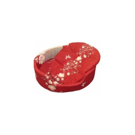 """Лежак """"Markiza"""" со съемным чехлом и подушкой (бордовый с рисунком)"""