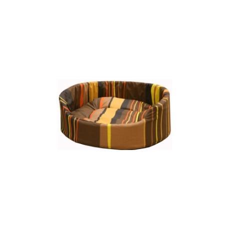 """Лежак """"Markiza"""" со съемным чехлом и подушкой (шоколадный в полоску)"""