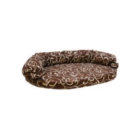 Диван с завязками, бязь (коричневый с завитками)