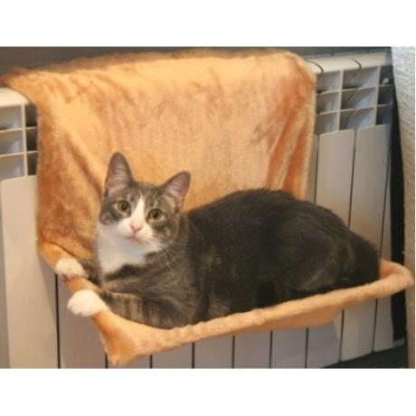 Гамак на радиатор для кошки, мех