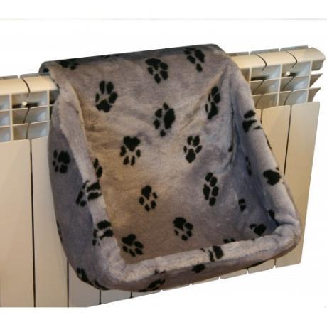 Лежак-гамак на радиатор для кошки, мех