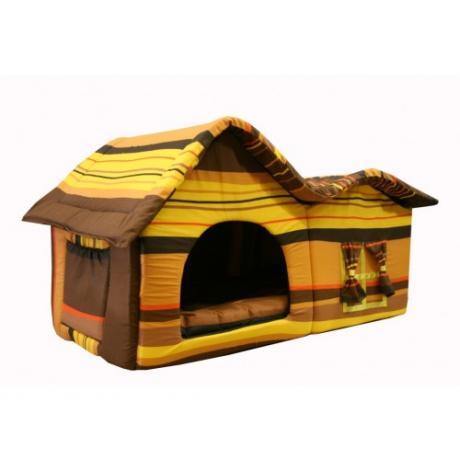 Домик мягкий с двойной крышей (шоколадный) большой