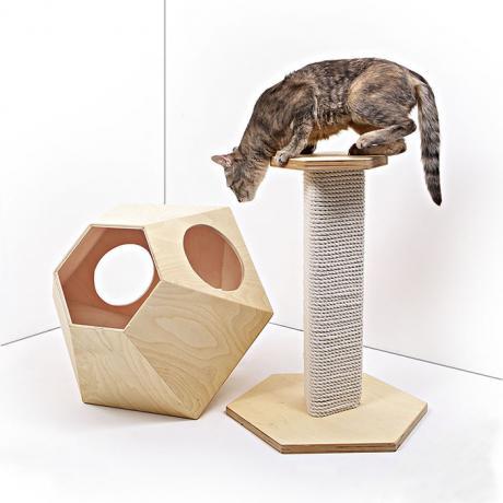 """Игровой комплекс для кошек """"Тенсай"""" деревянный"""