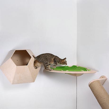 """Настенный игровой комплекс для кошек """"Ятта"""" деревянный"""