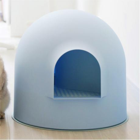 """Закрытый лоток для кошки Pidan """"ИГЛУ"""", голубой"""