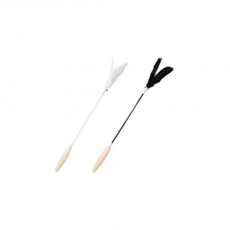Игрушка-удочка дразнилка с деревянной ручкой от Pidan (белая)