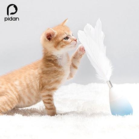 Игрушка-неваляшка для кошек от Pidan (голубая)