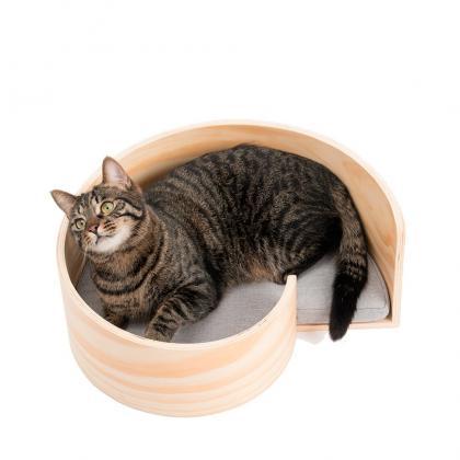 Деревянный спиральный лежак для кошек от Pidan