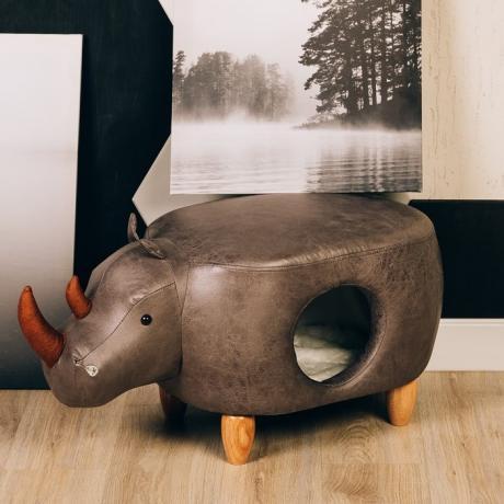 Домик-пуфик для кошек Носорог