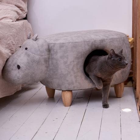 Домик-пуфик для кошек Бегемот