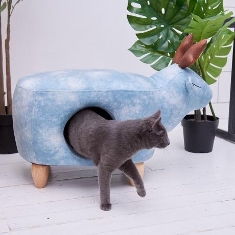 Домик-пуфик для кошек Олень