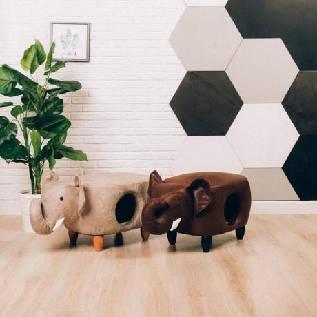 Домик-пуфик для кошек Слон UP