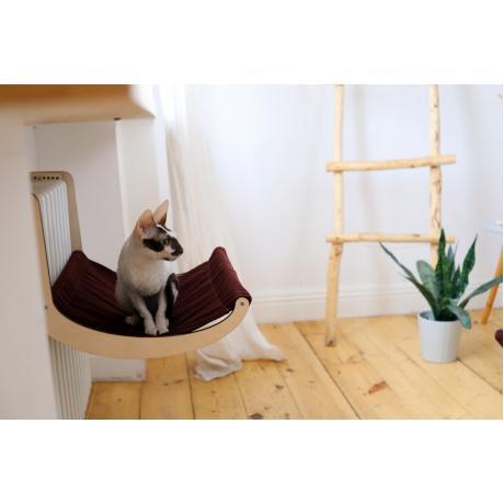 Гамак для кошки на батарею бордо