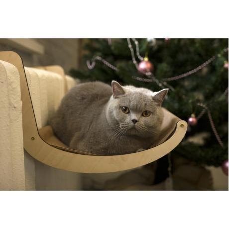 Гамак для кошки на батарею коричневый