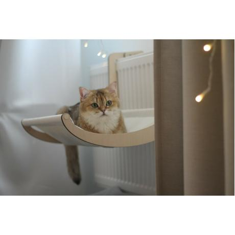 Гамак для кошки на батарею молочный