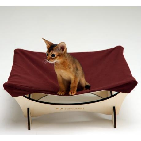 Гамак для кошки напольный бордо