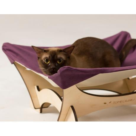Гамак для кошки напольный фиолетовый