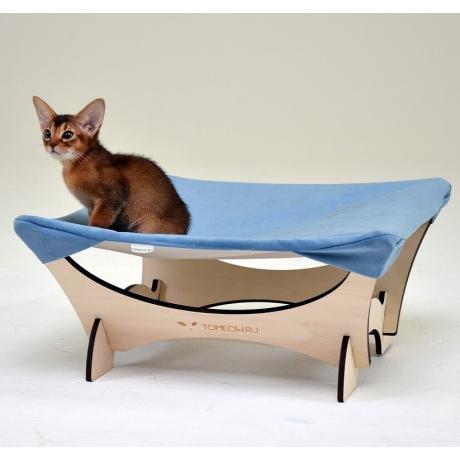 Гамак для кошки напольный голубой