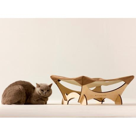 Гамак для кошки напольный коричневый