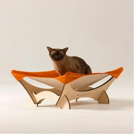 Гамак для кошки напольный оранжевый