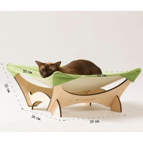 Гамак для кошки напольный зеленый