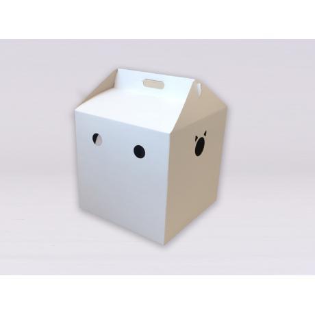 Домик из картона Кубик (белый)