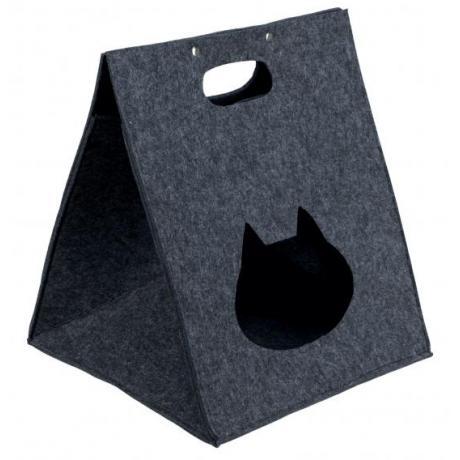 Домик-пещера для кошек Antonia, 40×48×40 см, серый