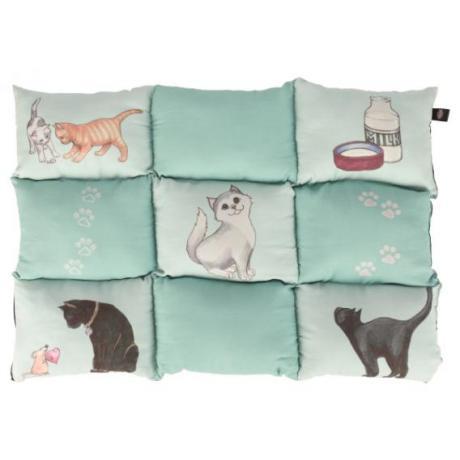 Лежак-подстилка для кошки Patchwork, 70 × 55 см, мятный