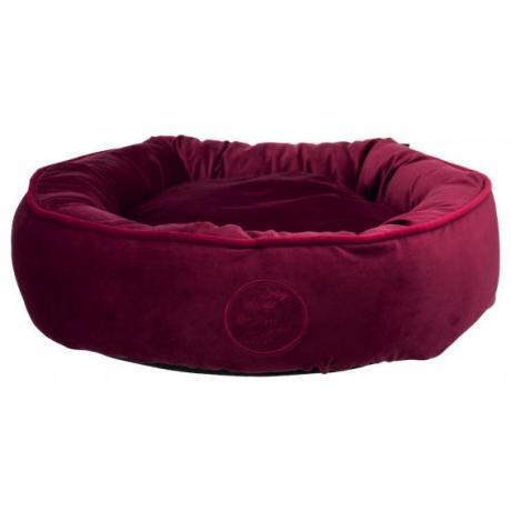 Лежак с бортиком Love your Pet, ø 50 см, винно-красный
