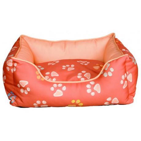 Лежак Jimmy с бортиками, 75 x 65 см, оранжево-розовый
