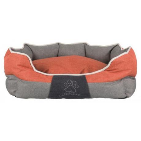 Лежак Joris, 60 × 50 см, серый/оранжевый