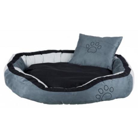 Лежак Bonzo, 60 × 50 см, серый/чёрный
