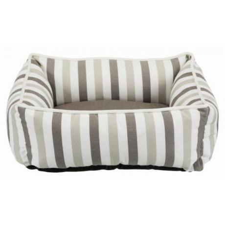 Лежак с бортиком Kimbo, 50 × 40 см, белый/тёмно-серый