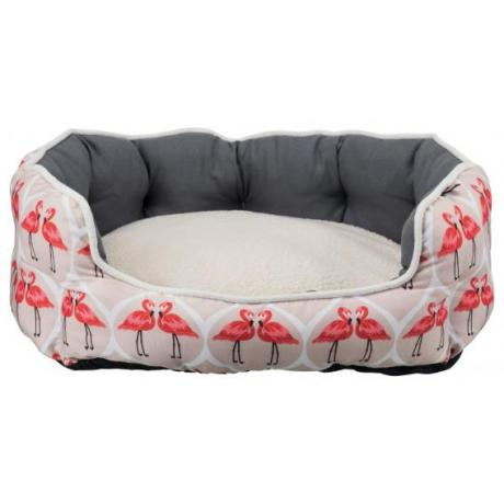 Лежак с бортиком Flamingo, 50 × 40 см, розовый/серый/кремовый