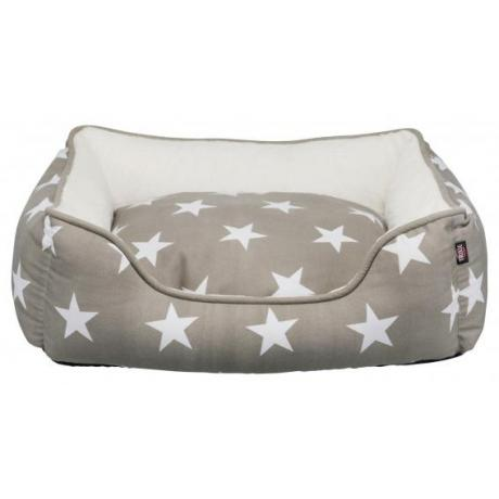 Лежак с бортиком Stars, 50 × 40 см, тёмно-серый/белый